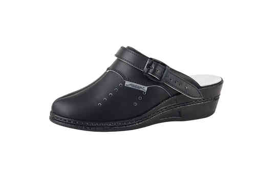 Abeba high Original Clog 7009, schwarz perforiert