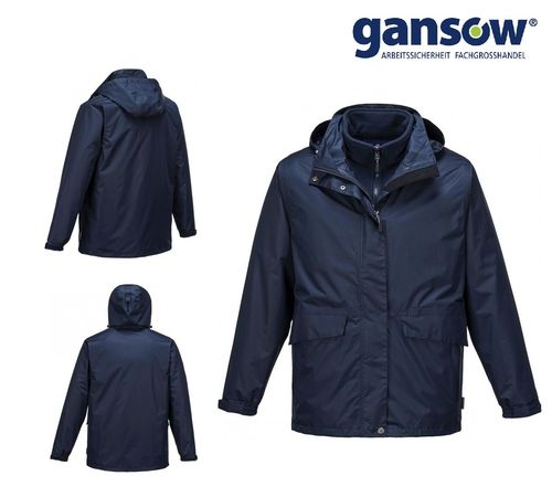 PORTWEST Winterjacke 3in1 Jacke marine AKTION 465