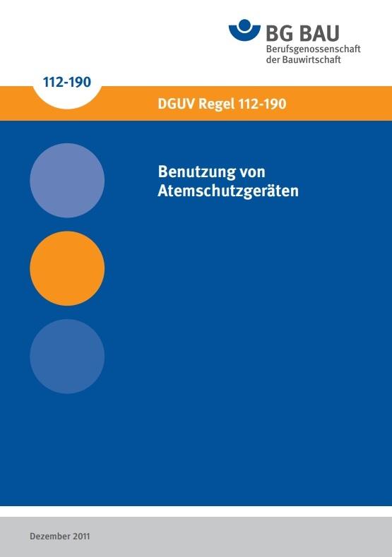 """BG Bau pdf """"Benutzung von Atemschutzgeräten"""""""